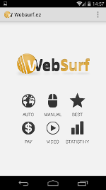 Websurf Browser Android náhľad