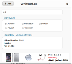 Websurf Browser Chrome náhled